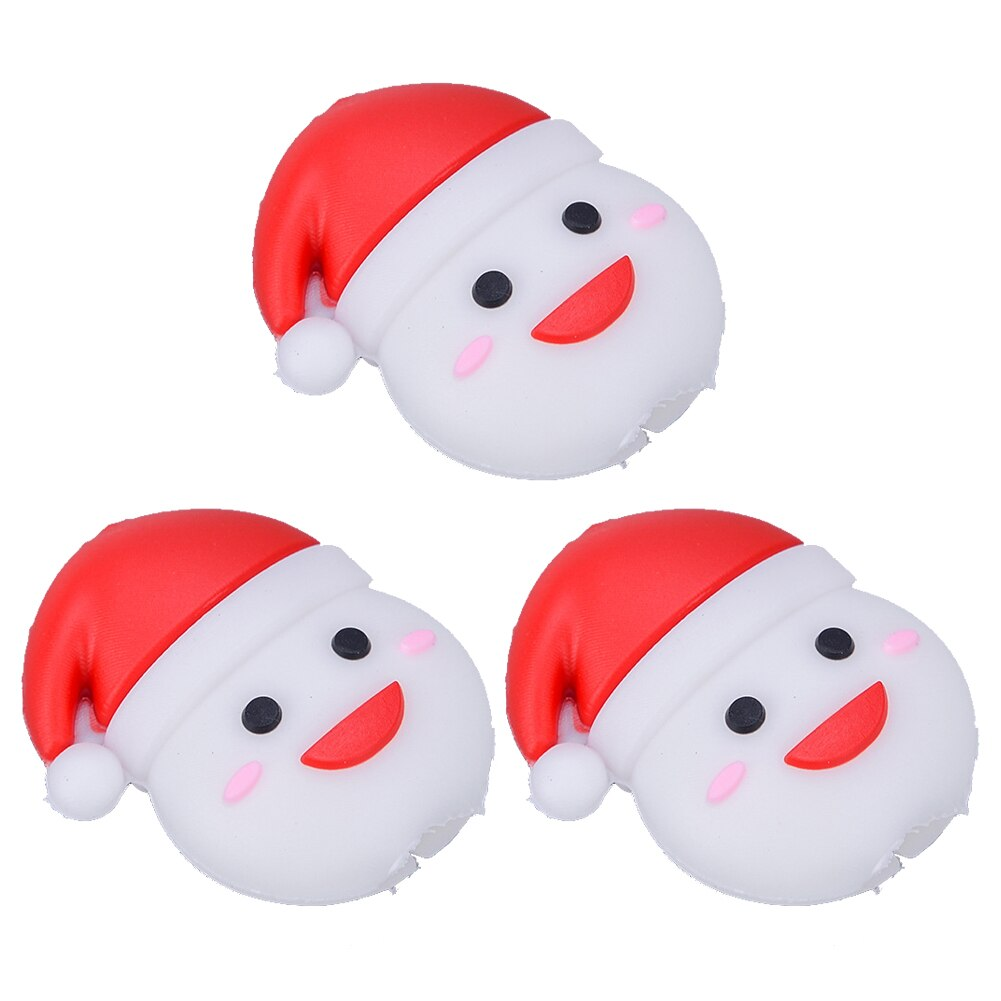 3 Pcs Sleeved Christmas Accessories Cover Cute USB Easy Install Protective Case Cable Protector