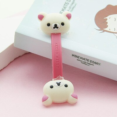 3 pcs Cute Cartoon Mobile Phone USB Cable Cable Winder Cable Control Cable Protector Cover Cable