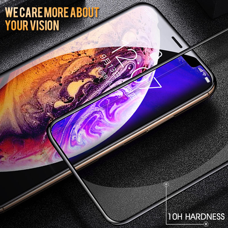30D Protective Glass on the For iPhone X XS Max XR Tempered Screen Protector Film Curved Edge