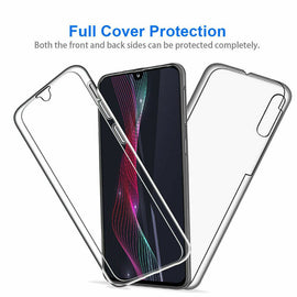 360 Full-Body Case for Samsung Galaxy Soft Clear Slim Silicone Cover