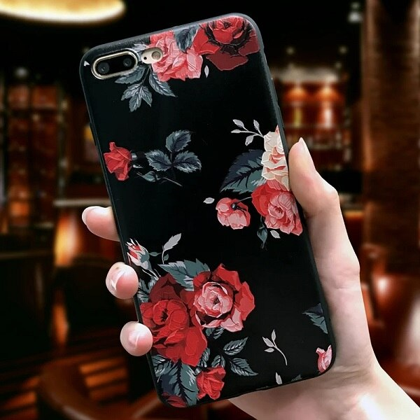 3D Flowers Rose Case For Huawei P20 P30 Lite Pro P Smart 2019 Cover For Huawei Mate 20 10 Lite Pro