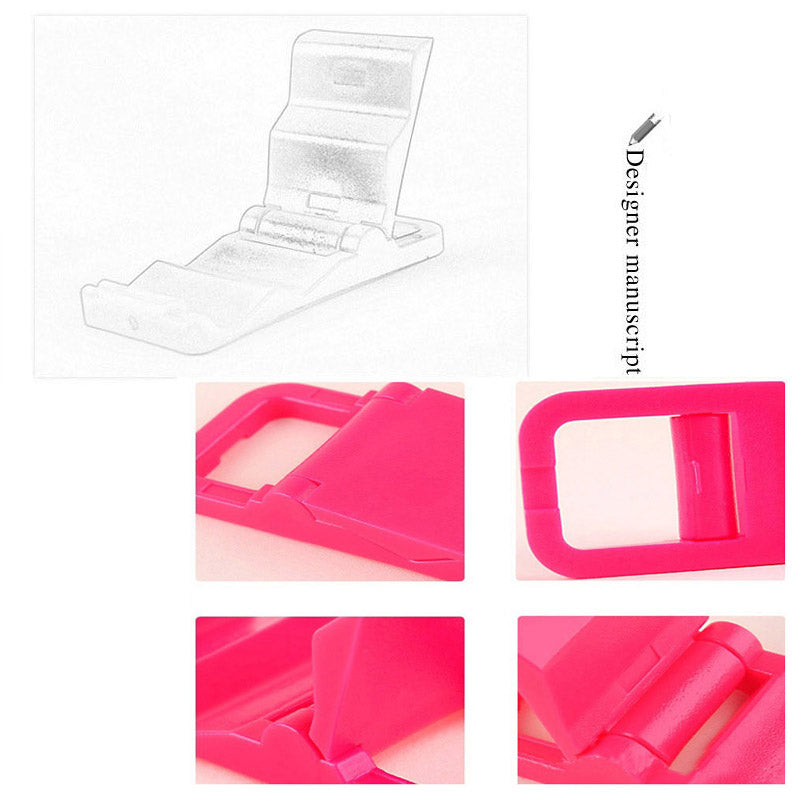 3pcs/Lot Universal Mini Cute Mobile Phone Lazy Desktop Stand Folding Holder Adjustable Flexible