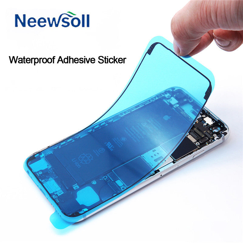 5PCS Waterproof Adhesive  Sticker for iPhone 7 6S Plus 7Plus 8 X 8P 3M Pre-Cut Gule LCD Screen Frame