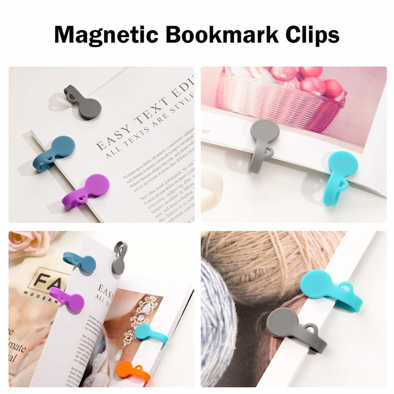 6 pcs Magnetic Cable Clips Magnetic Cable Organizers Twist Ties Earbuds Cords Winder USB Cable
