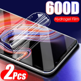 600D 2Pcs Soft Hydrogel Film Not Glass On For Samsung Galaxy Note 10 8 9 PLus S8 S9 S10 S10E