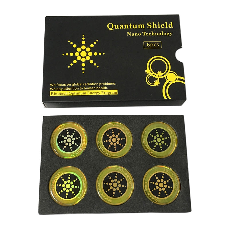6pcs Quantum Shield Sticker Mobile Phone Sticker For Cell Phone Anti Radiation Protection from EMF