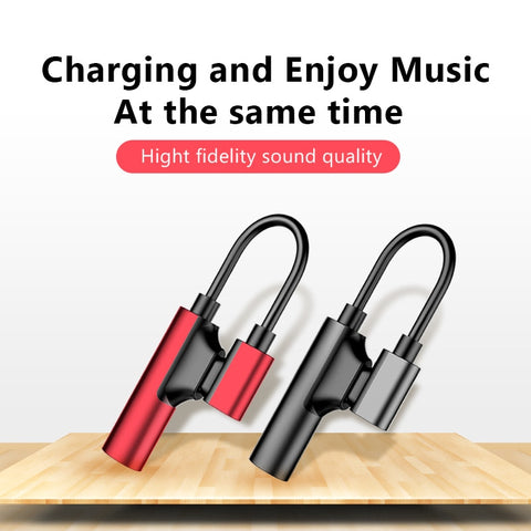 !ACCEZZ 3.5mm Earphone Connector For iphone X 8 7 Plus 2 in 1 Lighting AUX Splitter Cable For iphone