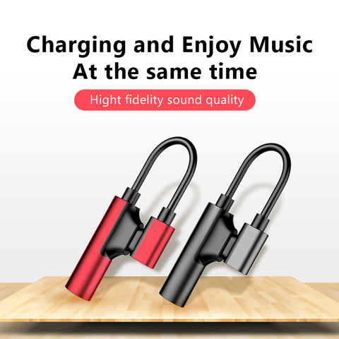 !ACCEZZ AUX Adapter For Apple iphone X 8 7 Plus XS MAX XR Fast Charging Listening 3.5mm Jack
