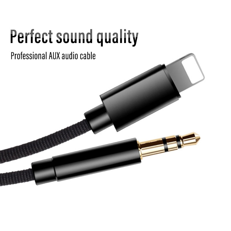 !ACCEZZ AUX Audio Cable To 3.5 mm Jack Speaker Cable For iphone 7 8 X XS MAX XR Car Headphone