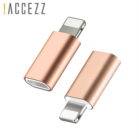 !ACCEZZ Portable Micro USB To Lighting For Apple Adapters For iphone X XS XR 6 7 5 Plus Sync Charger