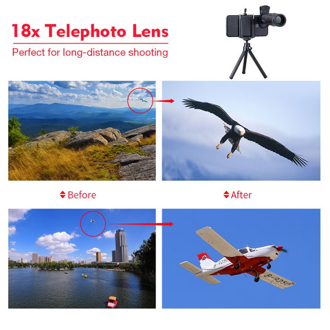 APEXEL 18X Telescope Zoom lens Monocular Mobile Phone camera Lens for iPhone Samsung Smartphones for