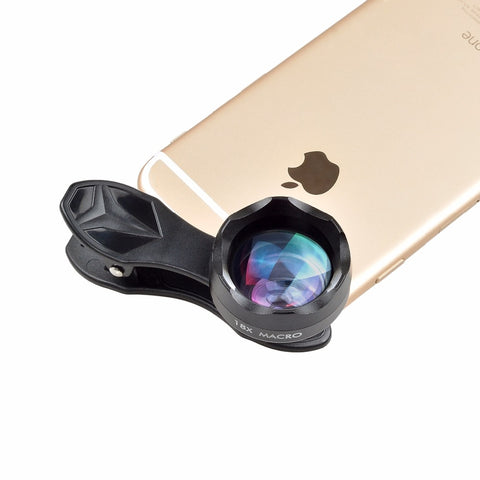 APEXEL Universal Clip on HD 18X Macro Lens Photography Mobile Phone Lens micro lentes For iPhone