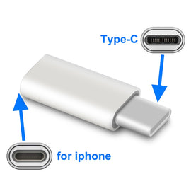 Adaptador for iPhone to Type C Adapter (8 pin To Usb c Splitter)