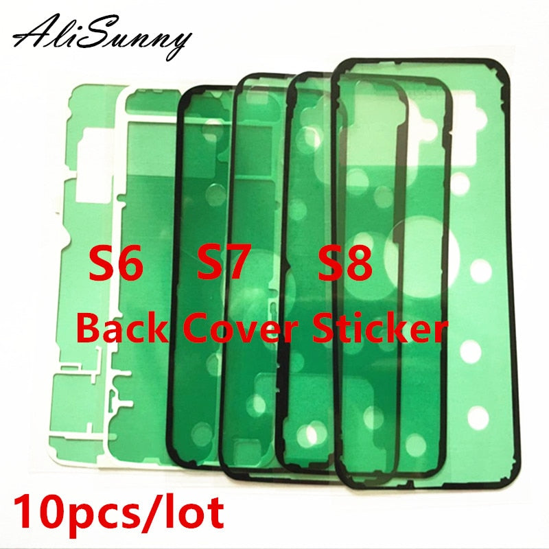 AliSunny 10pcs Back Housing Cover Sticker for SamSung Galaxy S6 S7 Edge S6Edge Adhesive Glue Back