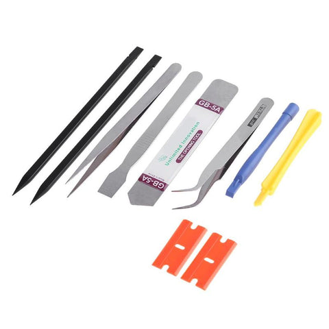Alloet 10pcs in one Set  Mobile Phone Repair Tools Kit LCD Screen Opening Screwdrivers Pry