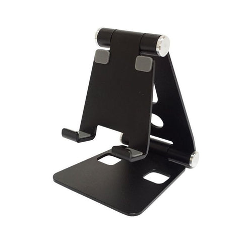 Aluminium Alloy Dual Foldable Desktop Rotary Tablet Stand Mobile Phone Holder Mount Bracket