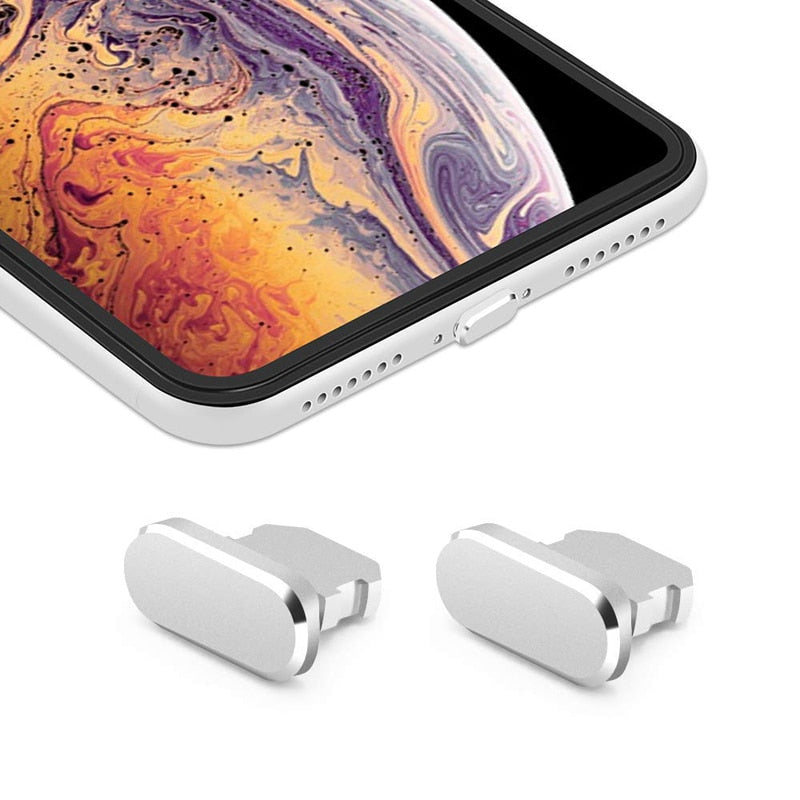 Aluminum Material Anti Dust Plug Charging Port for iPhone Xs Max XR X 8 Plus 7 6s 5s 5 SE For iPad