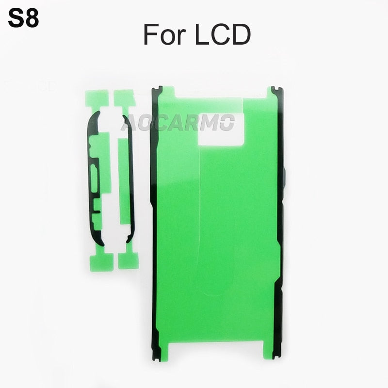 Aocarmo LCD Display Screen Back Battery Cover Camera Lens Waterproof Adhesive Sticker Glue Tape