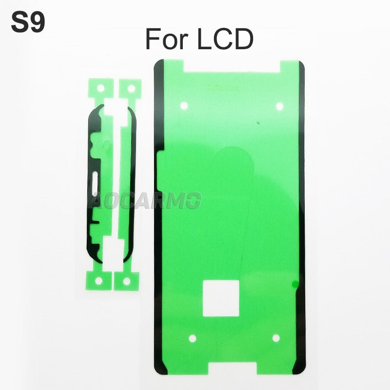 Aocarmo LCD Display Screen Back Battery Cover Camera Lens Waterproof Adhesive Sticker Tape For