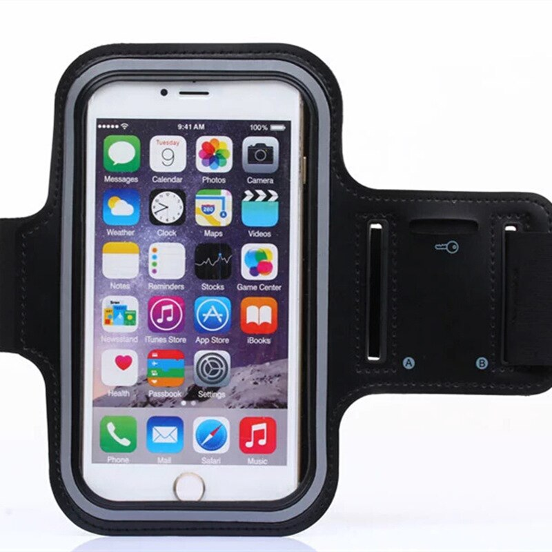 Arm band Holder Phone Cover For Samsung Galaxy S6 S7 Edge S8 S9 Plus S5 Sport Gym Armband Waterproof