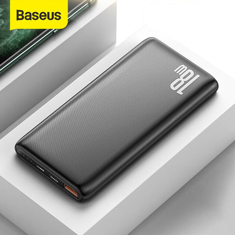 Baseus 18W Power Bank 10000mAh Quick Charge 3.0 Portable External Phone Charger with PD Two-way Fast