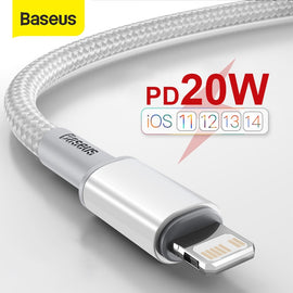 Baseus 20W USB C Cable for iPhone 12 11 Pro Max XR 8 PD Fast Charging for iPhone Charger Cable