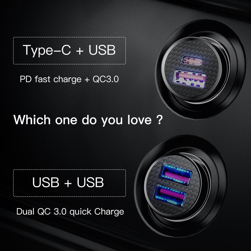 Baseus 30W Quick Charge 4.0 3.0 USB Car Charger For Samsung Huawei Supercharge SCP QC4.0 QC3.0