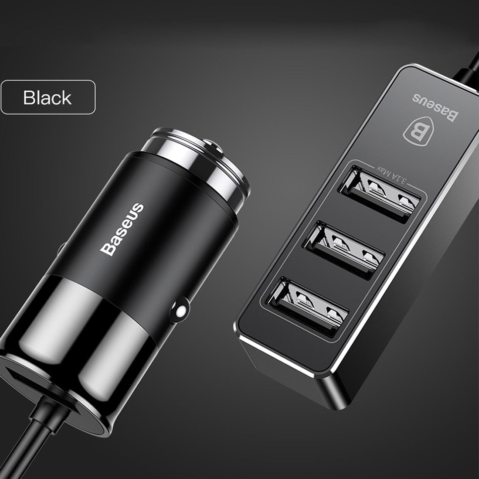 Baseus 4 USB Fast Car Charger For iPhone iPad Samsung Tablet Mobile Phone Charger 5V 5.5A Car USB