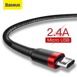 Baseus Micro USB Cable 2.4A Fast Charging for Samsung J7 Redmi Note 5 Pro Android Mobile Phone