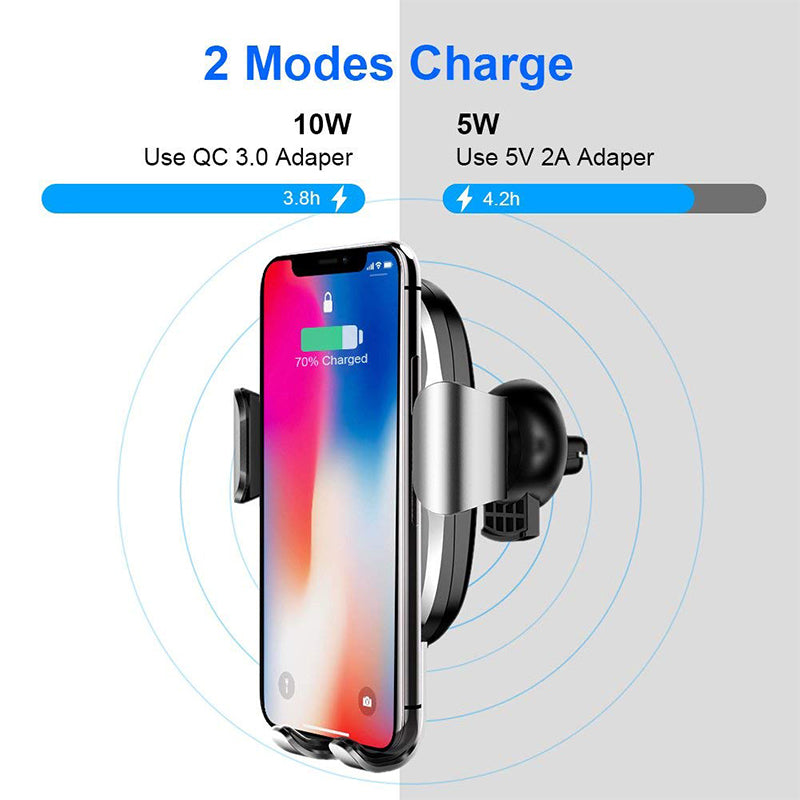 Baseus Qi Car Wireless Charger For iPhone 8 X XS Max XR Samsung Mobile Phone Charger 10W Fast