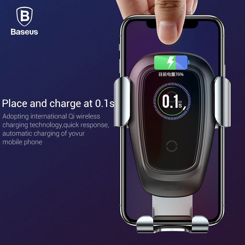 Baseus Qi Wireless Car Charger For iPhone Xs Max X 10w Fast Car Wireless Charging Holder For