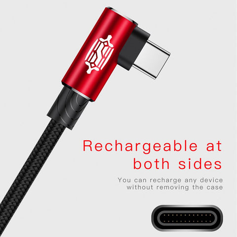 Baseus Type usb-C cable for samsung Note8 S8 Xiao mi A1 mobile phone Type C Fast charging cable usb type C Charger cable