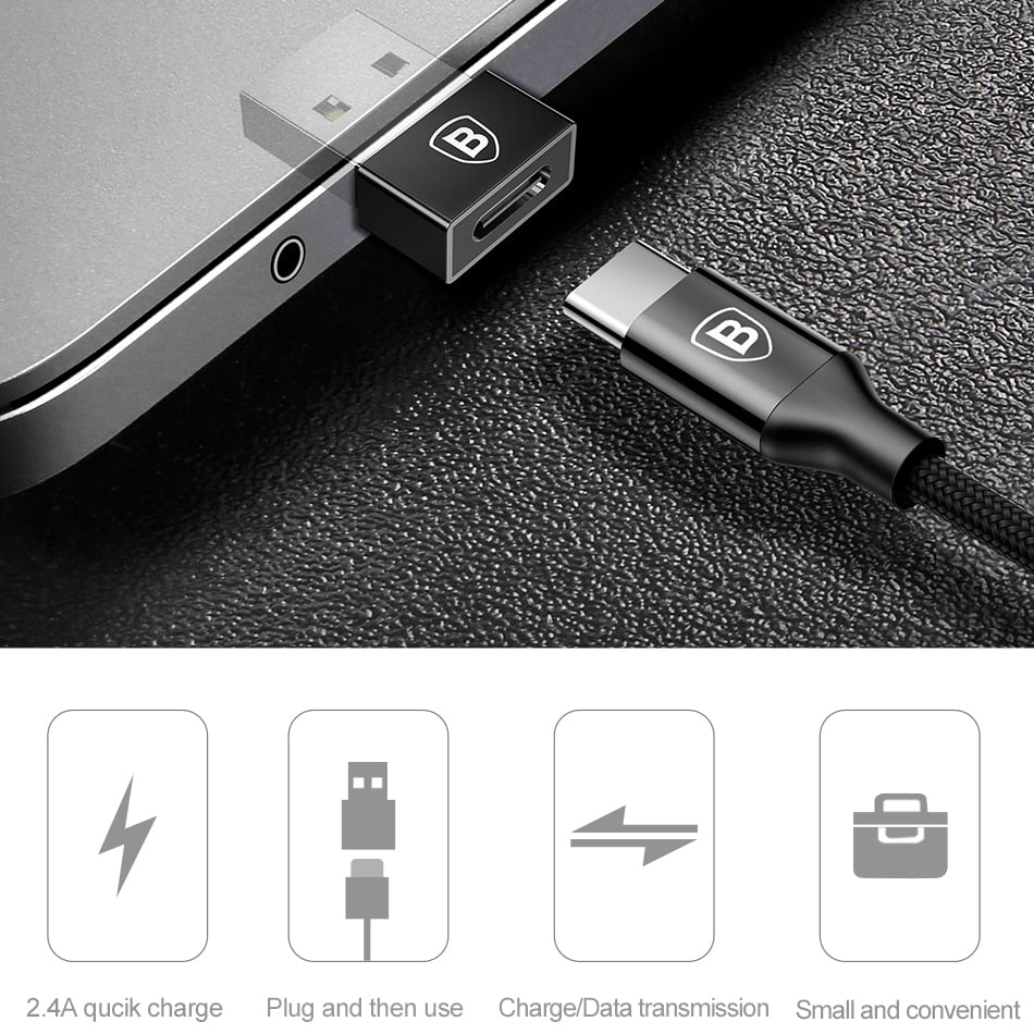 Baseus USB Male to Type C Female Cable OTG Adapter Converter Notebook Type-c Female to USB Male