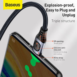Baseus USB Type C Cable 5A PD Fast Charging Cable for Samsung S20 Huawei P30 Cable USB C Cable