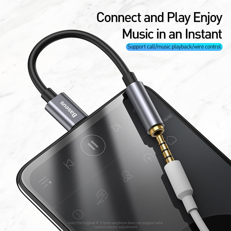 Baseus USB Type C to 3.5mm Jack OTG Adapter USB-C Type-C to 3.5 mm Headphone Audio Aux Cable For