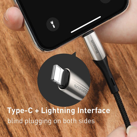 Baseus Upgrade 18W PD Quick Charge Cable USB Type C to iP for iPhone Charging Cable USB C to L Data Cable for Apple iPhone
