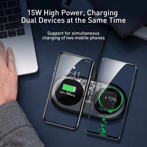 Baseus Visible Qi Wireless Charger 15W