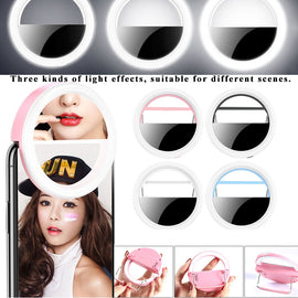 Beauty Selfie Led Light Camera Phone Photography Selfie Light Cosmetic Mirror