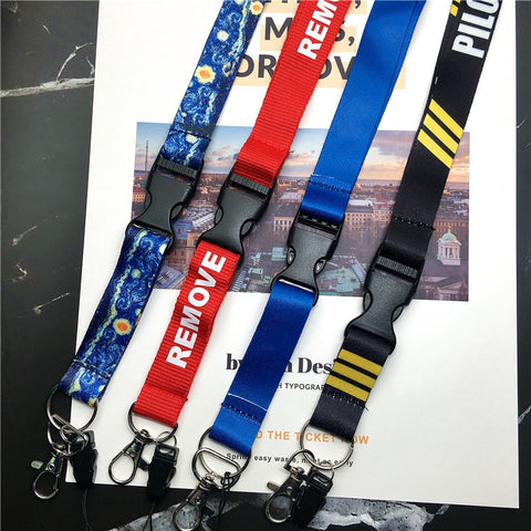 Before Flight Lanyards for Key Neck Strap For Card Badge Gym Key Chain Lanyard Key Holder DIY Hang