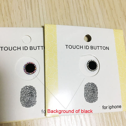 Bling Rhinestone Diamond Home Button Sticker For iPhone 7 8 Plus 6 6s 5s SE For iPad Support Touch