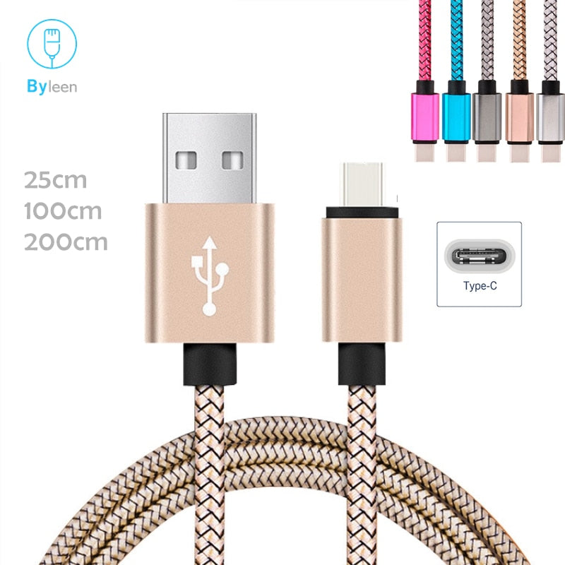 Byleen Fast Charging Data Sync charger Premium USB type c Line for Samsung Galaxy S9 A9 + NOTE 9 8