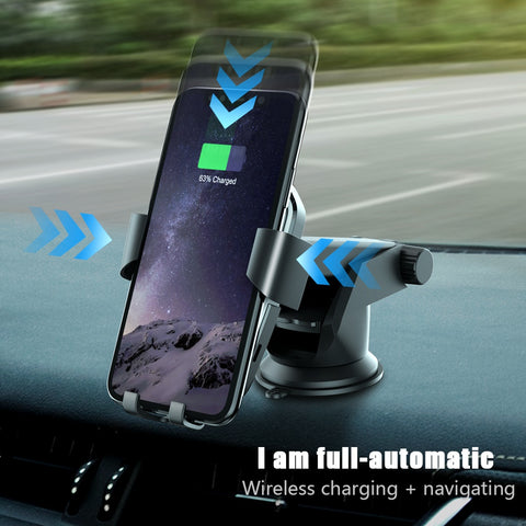 CASEIER Wireless Charger For iPhone XS Max X XR 8 Plus Car Mount QI Fast Charging For Samsung S9
