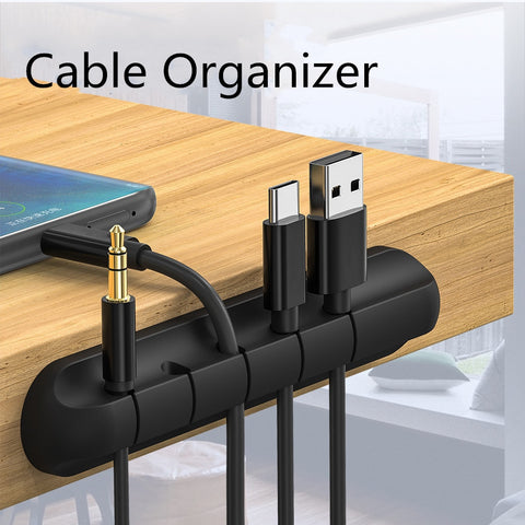Cable Organizer Silicone USB Cable Winder Flexible Cable Management Clips Cable Holder For Mouse