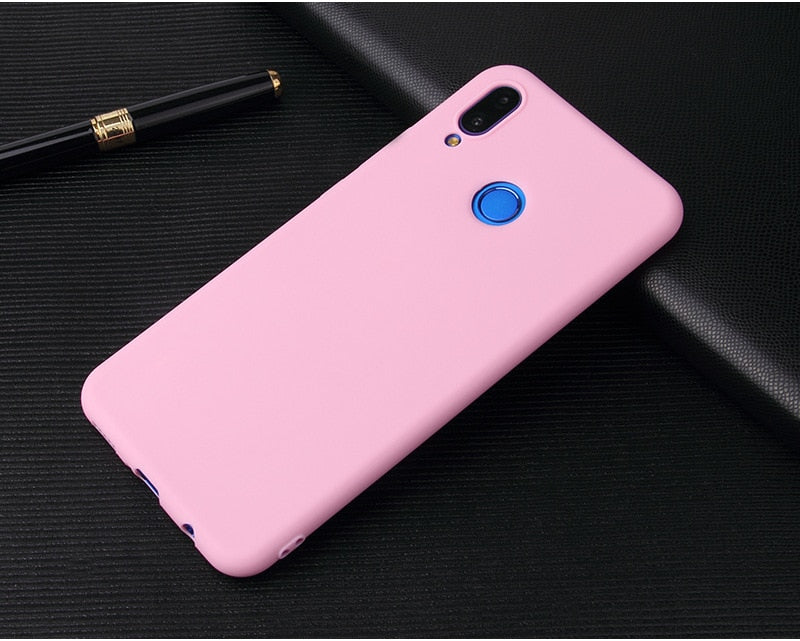 Candy Color Case for Huawei Y9 2019 Y6 Y5 Prime 2018 P20 P9 P10 Mate 10 Lite Honor 10 9 Lite 7C 7A