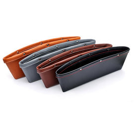 Car Storage Box Car Seat Gap Filling Pocket PU Leather Catcher Box Seat Side Pocket