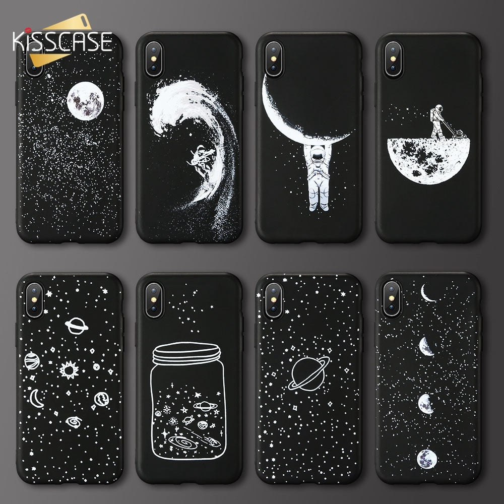 Case For Xiaomi Redmi Note 4 4X 5 6 Pro KISSCASE Moon Star Phone Case For Redmi 6 6A 5 5A S2 MI 8