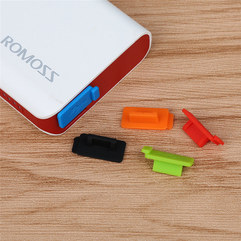 CatXaa 5 Pieces Standard USB Dust Plug Port Charger Cover Jack Interface dustproof prevention for
