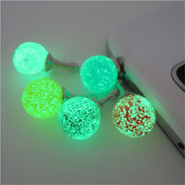 CatXaa Luminous Night Light 3.5mm Earphone Port Dust Plug Headset Headphone Stopper Mobile Phone