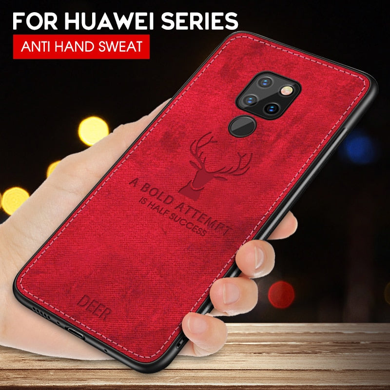 Cloth Deer Soft Cases For Huawei P20 P30 Lite P20 P30 P10 Pro Mate 20 10 Lite P Smart 2019 Y7