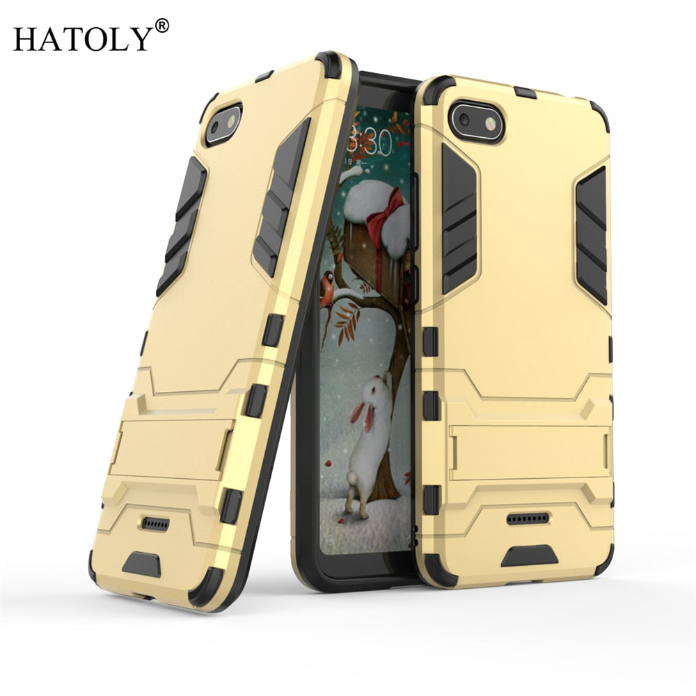 Cover Xiaomi Redmi 6A Case Rubber Robot Armor Shell Hard Back Phone Cover for Xiaomi Redmi 6A Case